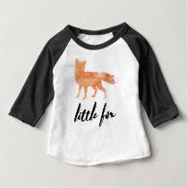 Little Fox Baby Baseball Tshirt