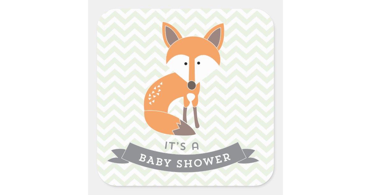 Little Fox Baby Shower Stickers