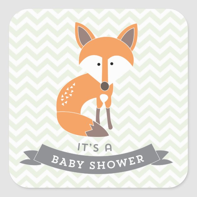Awesome Little Fox Baby Shower Stickers | Zazzle.com