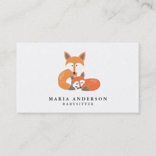 Animal business cards 29700 animal business card templates little fox babysitter business cards colourmoves