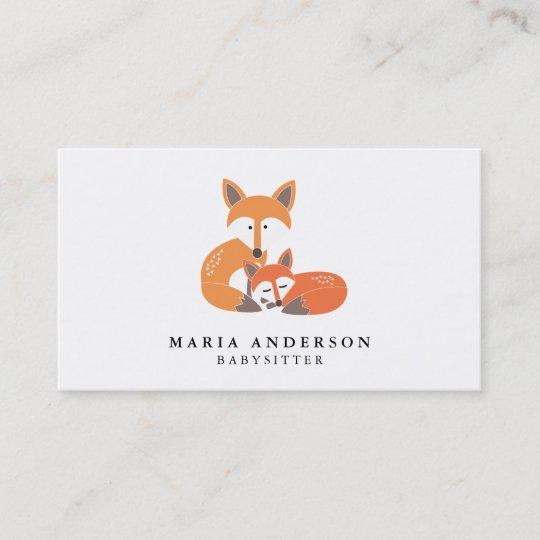 Little Fox Babysitter Business Cards Zazzle