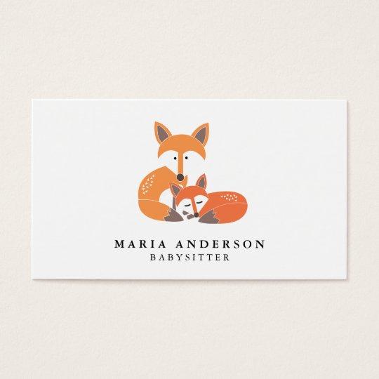Little fox babysitter business cards zazzle little fox babysitter business cards reheart Gallery