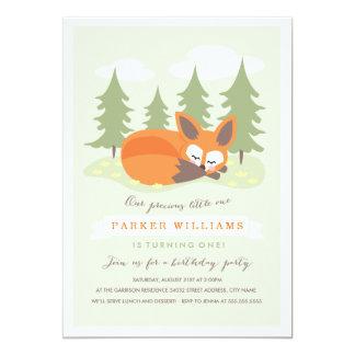 Little Fox Birthday Party Invitation