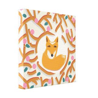 Little fox canvas prints