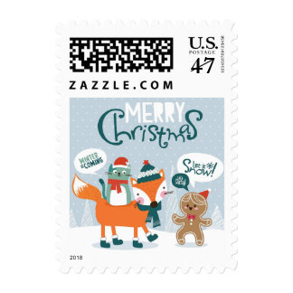 Little Fox, Cat And Gingerbread Postage