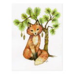 Little Fox - Cute Animal Art Postcard