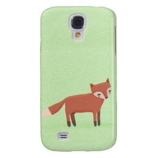 little fox cute woodland creature on green galaxy s4 case