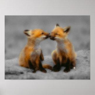 Little Fox Love Poster