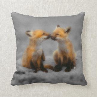 Little Fox Love Throw Pillow