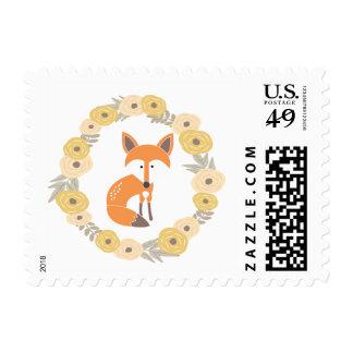 Little Fox Postage Stamp