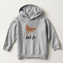 Little Fox Toddle Hoodie Grey