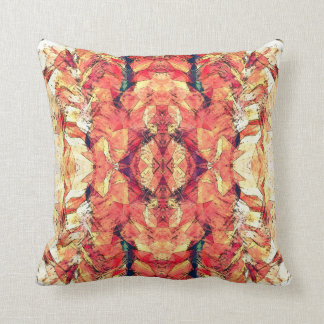 Little Foxes Orange Patterned Throw Pillow