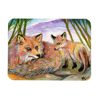 Little Fox's Nap Time Magnet