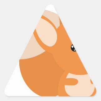 Little Foxy Poo Triangle Sticker