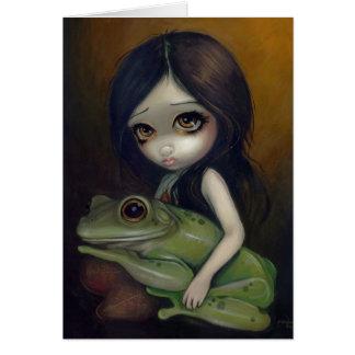 """Little Frog Girl"" Greeting Card"