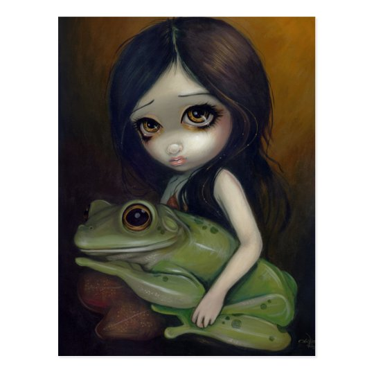 """Little Frog Girl"" Postcard"