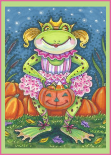 Frog halloween cards zazzle little frog hoppy halloween greeting card verse m4hsunfo