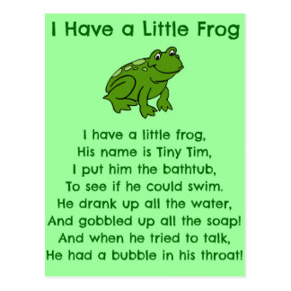 Little Frog Poem Postcard