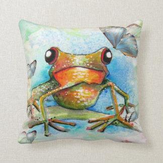 Little Froggy & Butterflies Pillow
