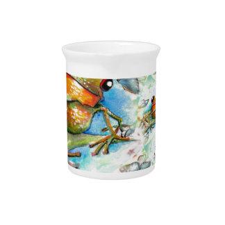 Little Froggy Swirl Design Pitcher