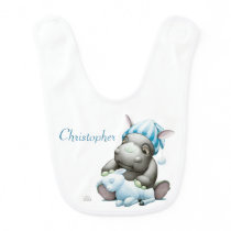 Little G the Baby Rhino Personalized Baby Bib