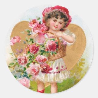 little gardener classic round sticker