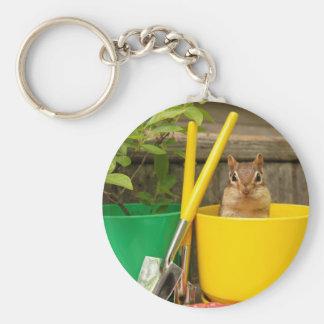 Little Gardening Chipmunk Key Chain