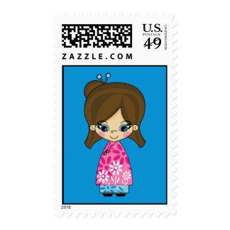 Little Geisha Girl Stamp