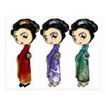 Little Geishas Postcard