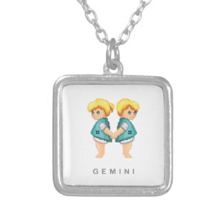 Little Gemini Silver Plated Necklace