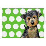 Little Gent Yorkie Stationery Note Card
