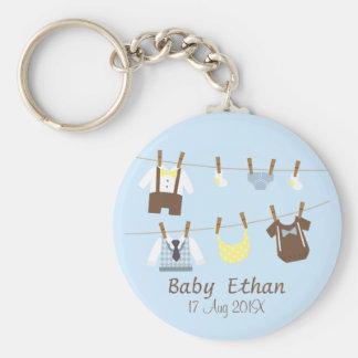 Little Gentleman Baby Boy Shower Party Favors Keychain