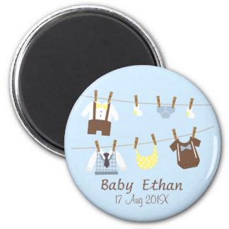 Little Gentleman Baby Boy Shower Party Favors Magnet