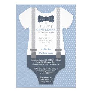 Little gentleman invitations zazzle little gentleman baby shower invite blue gray invitation filmwisefo