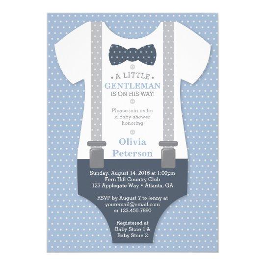 Little gentleman baby shower invite blue gray invitation zazzle little gentleman baby shower invite blue gray invitation filmwisefo