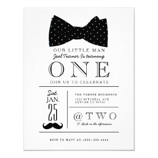 Little Gentleman Birthday Party Invite
