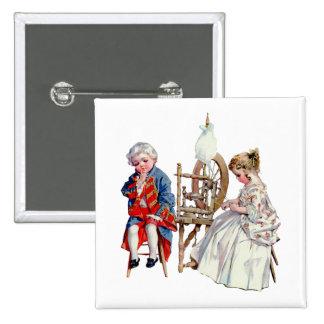 Little George and Martha Washington Button
