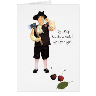 Little George and the Cherry Tree Greeting Card