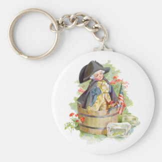 Little George Washington Crossing the Delaware Basic Round Button Keychain