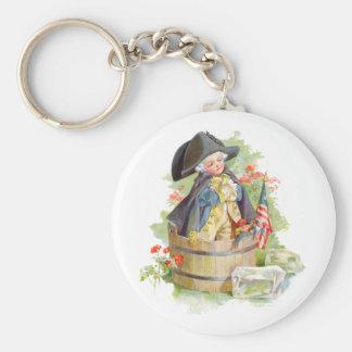 Little George Washington Crossing the Delaware Keychain