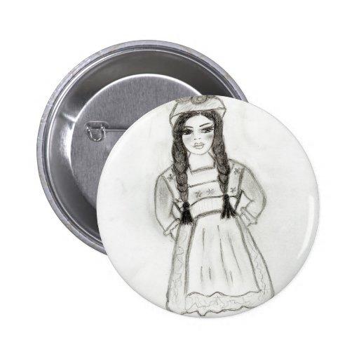 Little German Girl Button