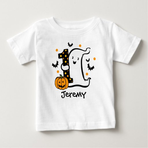Little ghost 1st birthday baby t shirt zazzle T shirt printing port saint lucie fl