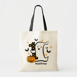 Little Ghost 1st Birthday Budget Tote Bag