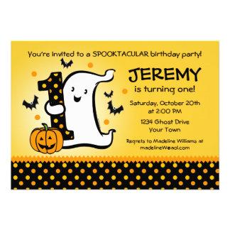 Little Ghost 1st Birthday Invitations