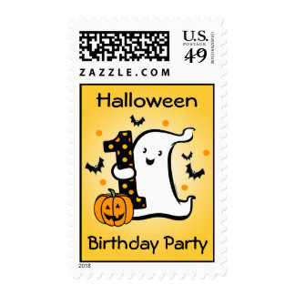 Little Ghost 1st Birthday Postage Stamps