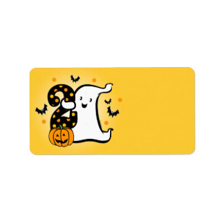 Little Ghost 2nd Birthday Custom Address Label