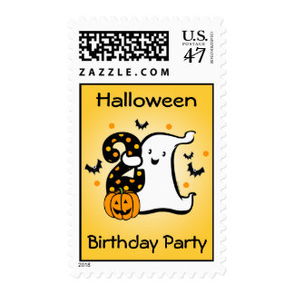 Little Ghost 2nd Birthday Postage
