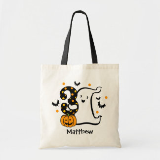 Little Ghost 3rd Birthday Budget Tote Bag