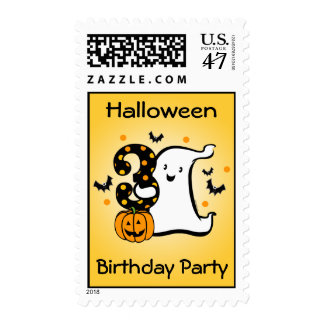 Little Ghost 3rd Birthday Postage