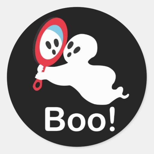 Little Ghost Classic Round Sticker